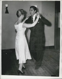 Maharaja of Cooch Behar Jagaddipendra Narayan learning dance from Betty Martin,1956
