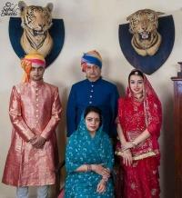 Royal Family of Danta, Maharana Mahipendra Sinhji and Maharani Saheba Chandra Kumari with Yuvraj Saheb Ridhiraj Sinhji and Yuvranisa Saheba Divyajyoti Sinh