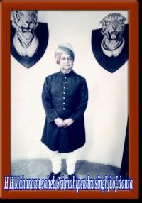 HH Mahipendrasinghji of Danta
