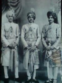 Lt.Thakur Saheb Mool Singh Ji(centre) with Th.Saheb Padam Singh Ji & Thakur Saheb Roop Singh Ji
