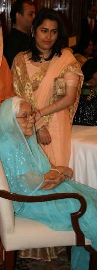 Maharani Menaka Prabha of Dewas Junior with her grand daughter Rani Ujjwala Prabha of Ramgarh
