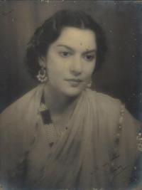 Maharani Menkaraje Puar of Dewas Junior, formerly Princess of Cooch Behar