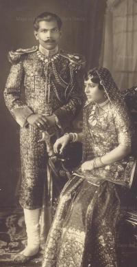 Late Pattayet Nursingh Pratap Singh Deo of Dhenkanal and Pattayetuni Jatan Kumari Devi (Bera-Rajasthan)