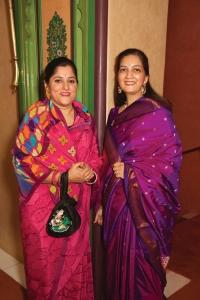 Yuvrani Meenal Kumari Singhdeo of Dhenkenal, with Rani Alaukika Khacher of Jasdan