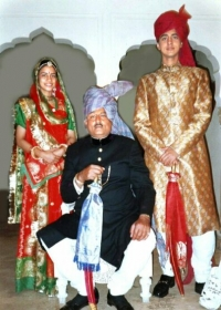 Thakur ASHOK KUMAR SINGH, with his children, Baiji Lal Meghna Kumari and Kunwar Gajraj Singh