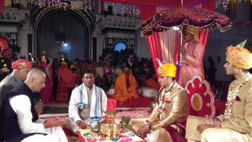 Marriage Ceremony of Yuvraj Janmejay Chandra Mardaraj Harichandan at Qila Kothi, District Satna, MP