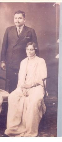 Raja Amarendra Mansingh Bhramabar Rai with Rani Pritam Kumari of Dompada