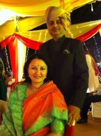 Raja Jayant Chandra Mardaraj Harichandan with Rani Manojmanjari Devi