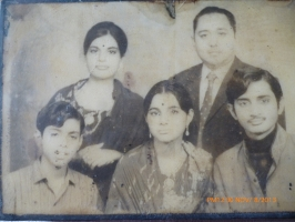 Rani Indira devi with husband and children