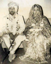 Ran Vijaya Shah, Zamindar of Dumraon and his wife, Roop Shri Devi