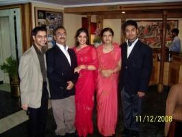 The Dumaria Zamindari family: (L to R), Ripumardan Shahi, Arindam Shahi, Kritika Shahi, Praveen Kumari Devi, and Arimardan Shahi