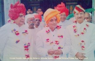 Maharaja Bahadur KAMAL SINGH with his sons.