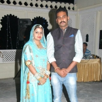 Kunwar Ajay Singh Rathore with wife Pooja Shaktawat Rathore