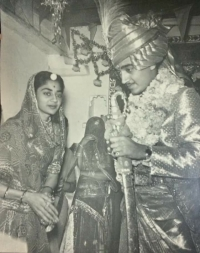 Rao Sahab Indrajeet SIingh ji of GARI Banswara on his Royal wedding with Girraj Kumari of Rampura (Garhi)