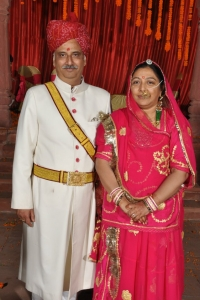Kanwar Gopal Das Rathore and Kanwarani Meenakshi, son and daughter in law of Thakur Mandhata Singh