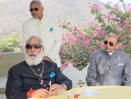 Shriji Arvind Singh Mewar and Thakur Sahib Lokendra Singh ji of Kotri