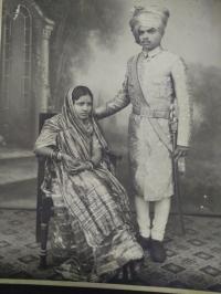 Thakor Saheb Pravinsinhji with his better half Dharmendrakunvarbasaheb