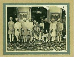 Maharaja Bahadur Pratap Singh of Gidhaur in Gidhaur Durbar