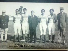 Col Thakur Rajendera Singhji of Hardesar (first from left), Victors Thimmayya Cup 1973