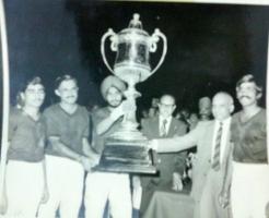 Col Thakur Rajendera Singhji  of Hardesar, in Banglore Polo Turf Cup 1972
