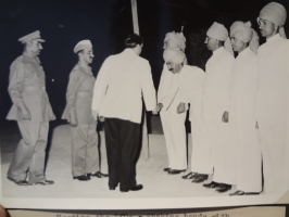 Thakur Bhairon Singhji of Hardesar with HH Maharaja Karni Singhji of Bikaner