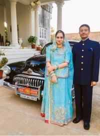Karni Singhji Narendra Singhji & Geetanjali Devi of Idar at Dowlat Villas Palace