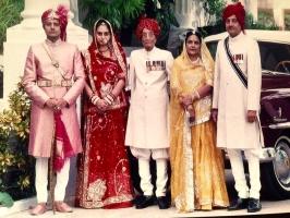 Late Maharaj Shri Umeg Singhji Maharaj & Rani Narendra Singhji  Karni Singhji & Geetanjali Devi of Idar