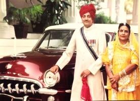 Maharaj Shri Narendra Singhji Umeg Singhji & Rani Nirupama Devi of Idar at Dowlat Villas Palace