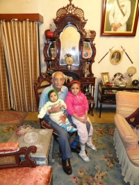 Maharaj Shri Umed Singhji Saheb with his great grand children