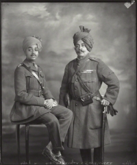 Shri Sumer Singhji Sahib Bahadur, Maharaja of Jodhpur (left) with Sir Pratap Singhji, Maharaja of Idar and Regent of Jodhpur