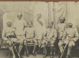 Rao Brijraj Pal [sitting second from left]