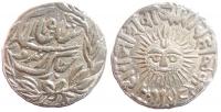 A silver rupee of Shivajirao Holkar 1886-1903