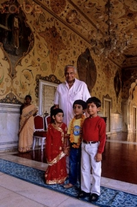 Maharaja Sawai Brig. Bhawani Singhji with grandchildren