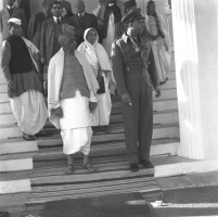 Maharaja Sawai Man Singh II with Sardar Patel on his visit to Jaipur in December, 1947