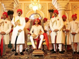 Maharaja Sawai Padmanabh Singh at his 18th birthday celebrations at the City Palace, Jaipur