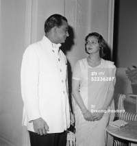 Maharaja and Maharani of Jaipur in London, 1957