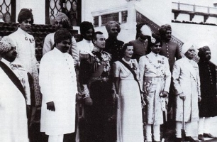 The Mountbattens with the Jaipur Maharaja and Maharaja of Kapurthala