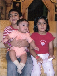 HH PADMANABH Singh ji with Sister & Brother