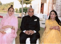 Lt. H.H. Bhawani Singh ji with Her Highness Padamani Devi and Princess Sahiba Diya Kumari