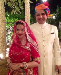 Baijilal Anjali Bhati with her husband Sahebzada Omar Faruq Ali of Bhopal