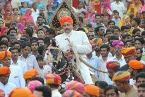 HH Brijraaj Singh Ji at a Gangor Festival in Jaisalmer