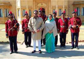 H.H. Maharaja and Maharani of Jaisalmer