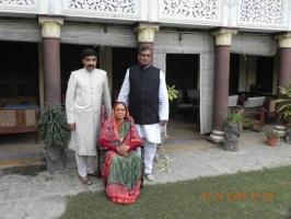 Kr Yashraj Singh, Krrani Sharda Devi Ji and Kr Atulraj Singh Ji