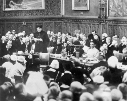 Maharaja Hari Singh speaking at Parliament