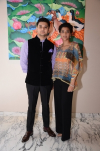 Rajkumar Martand Singh with his sister Princess Mriganka Singh of Jammu & Kashmir