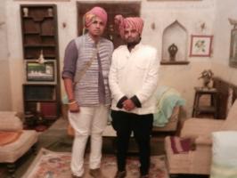 Kunwar Rishikumar Singh with Kunwar Bhriguraj Singh Jamnia