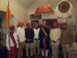 Raja Shalivahan Singhji with his brothers and nephew