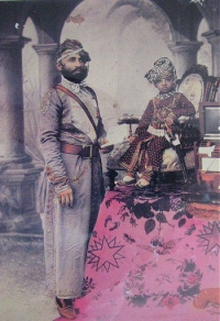 Maharaja Sardar Singh with Sir Partap Singh as child