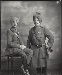 Maharaja Shri Sumer Singhji Sahib Bahadur, Maharaja of Jodhpur (left) with Sir Pratap Singhji, Maharaja of Idar and Regent of Jodhpur