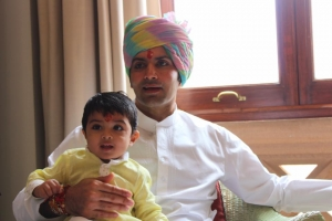 Yuvraj Shivraj Singh with his son Sirajdev Jodhpur